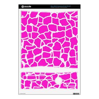 Hot Magenta Giraffe Animal Print Skin For Xbox 360 S
