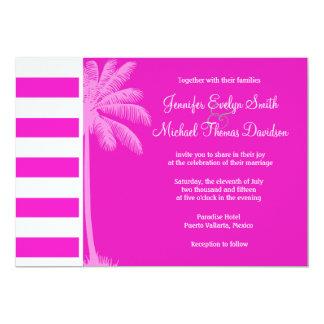 Hot Magenta Pink Stripes; Retro Palm Announcement