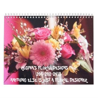 hot magenta, REGINA'S FLORAL DESIGNS INC.206-20... Calendar