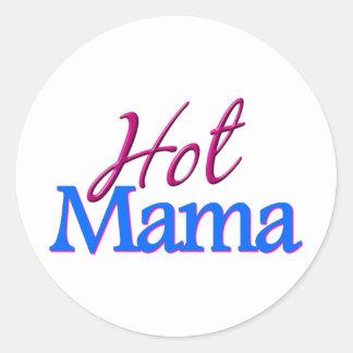 Hot Mama Classic Round Sticker