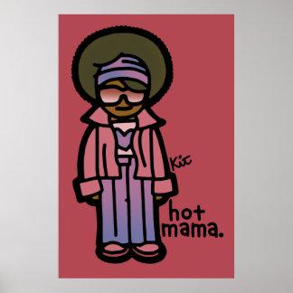 hot mama mural. poster