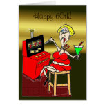 HOT MAMA SLOT MACHINE LUCKY 7'S 60th BIRTHDAY CARD