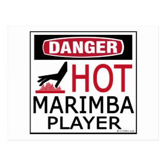 Hot Marimba Player Postcard