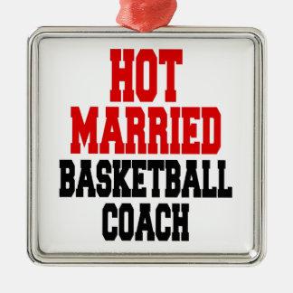 Hot Married Basketball Coach Metal Ornament
