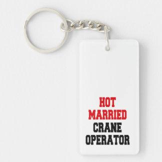 Hot Married Crane Operator Double-Sided Rectangular Acrylic Keychain