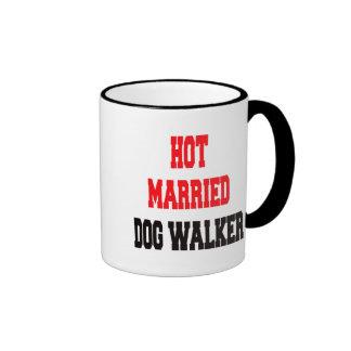 Hot Married Dog Walker Ringer Coffee Mug