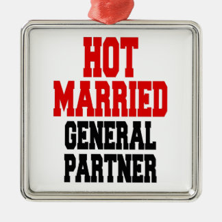 Hot Married General Partner Square Metal Christmas Ornament