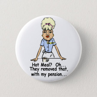 hot meal pinback button