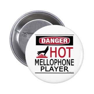 Hot Mellophone Player 2 Inch Round Button
