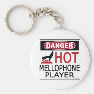 Hot Mellophone Player Basic Round Button Keychain