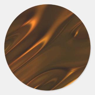 Hot Melted Liquid Chocolate Textured Classic Round Sticker