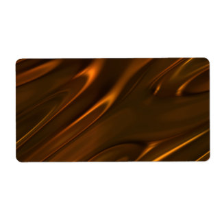 Hot Melted Liquid Chocolate Textured Shipping Label