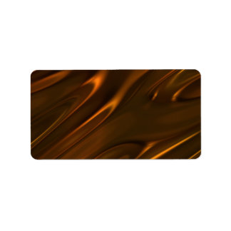 Hot Melted Liquid Chocolate Textured Address Label