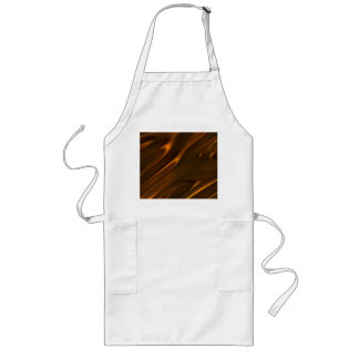 Hot Melted Liquid Chocolate Textured Long Apron