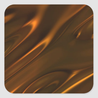 Hot Melted Liquid Chocolate Textured Square Sticker