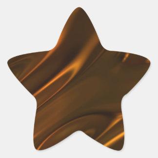 Hot Melted Liquid Chocolate Textured Star Sticker