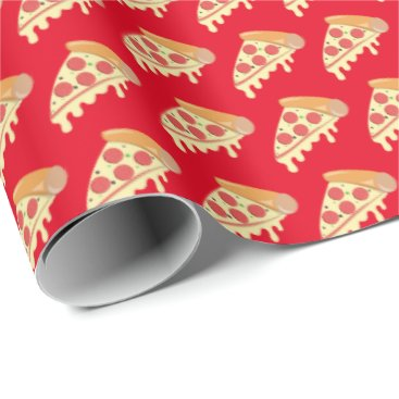 doodlesgifts Hot melting cheese pepperoni pizza wrapping paper