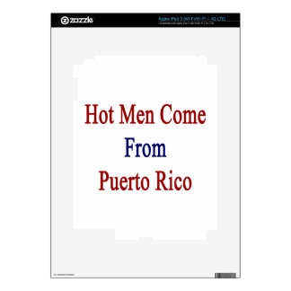 Hot Men Come From Puerto Rico iPad 3 Skins