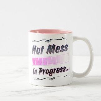 Hot Mess...In Progress Two-Tone Coffee Mug