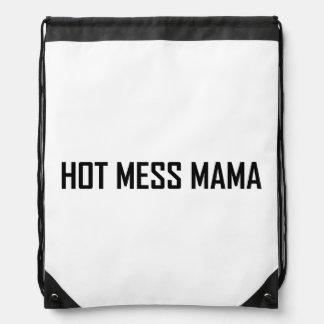 Hot Mess Mama Drawstring Backpack