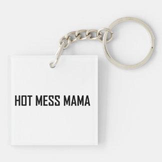 Hot Mess Mama Keychain