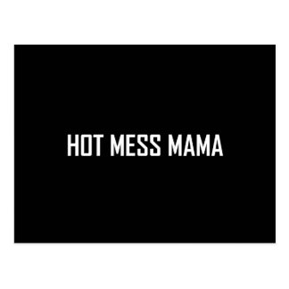 Hot Mess Mama White Postcard
