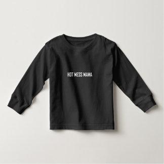 Hot Mess Mama White Toddler T-shirt