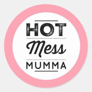 Hot Mess Mumma Classic Round Sticker