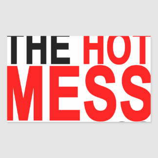 Hot Mess T-Shirts.png Rectangular Sticker