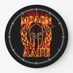 Hot Molon Labe Warrior Mask Laurels on Fire Clock