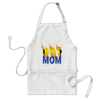 Hot Mom and Flames Adult Apron