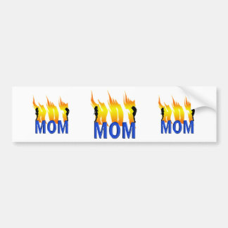 Hot Mom and Flames Bumper Sticker