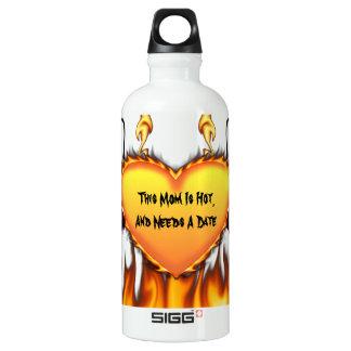 Hot Mom Needs A Date Aluminum Water Bottle