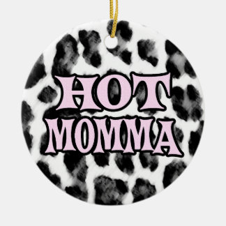 Hot Momma Double-Sided Ceramic Round Christmas Ornament