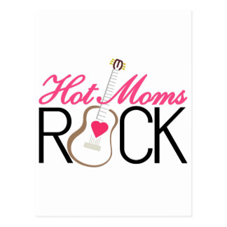 Hot Moms Rock Postcard