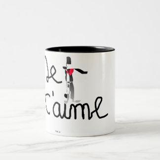 hot morning Two-Tone coffee mug