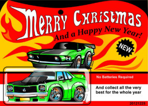Muscle Car Christmas Cards Zazzle