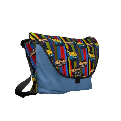 Hot Muscle Cars Rickshaw Messenger Bag
