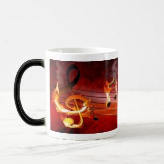 Hot Music Notes Morph Mug Morphing Mug