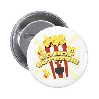 Hot N Fresh Popcorn Pinback Buttons