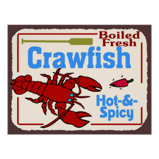 Hot N Spicy Boiled Crawfish Sign