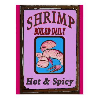 Hot N Spicy Boiled Shrimp Sign