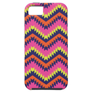 Hot Neon Chevron Tribal Pattern Orange Pink iPhone SE/5/5s Case