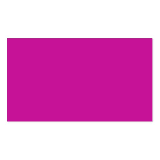 Hot Neon Pink Business Card