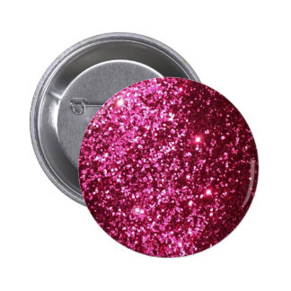HOT NEON PINK SPARKLE GLITTER BACKGROUND PARTY FUN BUTTON