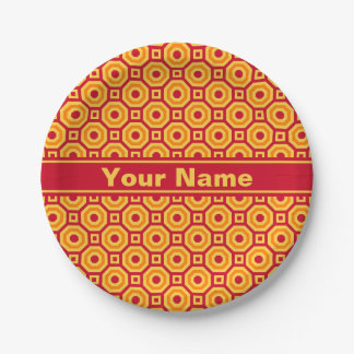 Hot Nested Octagons Paper Plate 7 Inch Paper Plate