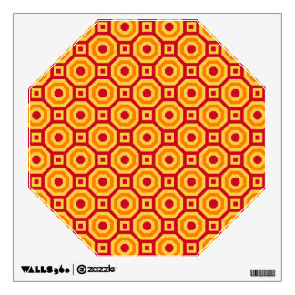 Hot Nested Octagons Wall Decal