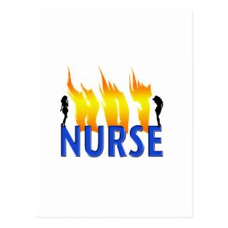 Hot Nurse Postcard
