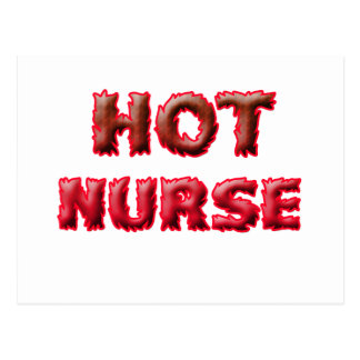 HOT NURSE POSTCARD