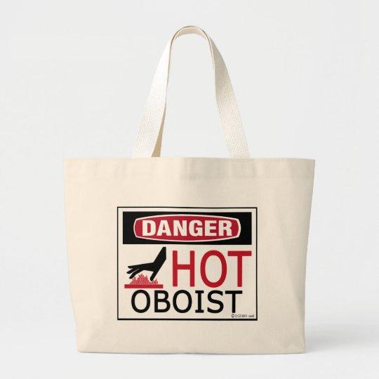 Hot Oboist Large Tote Bag